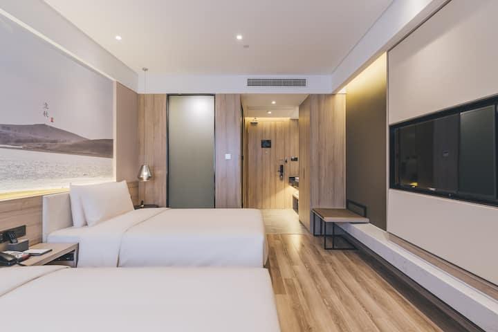 上海安亭亚朵酒店高级双床房1