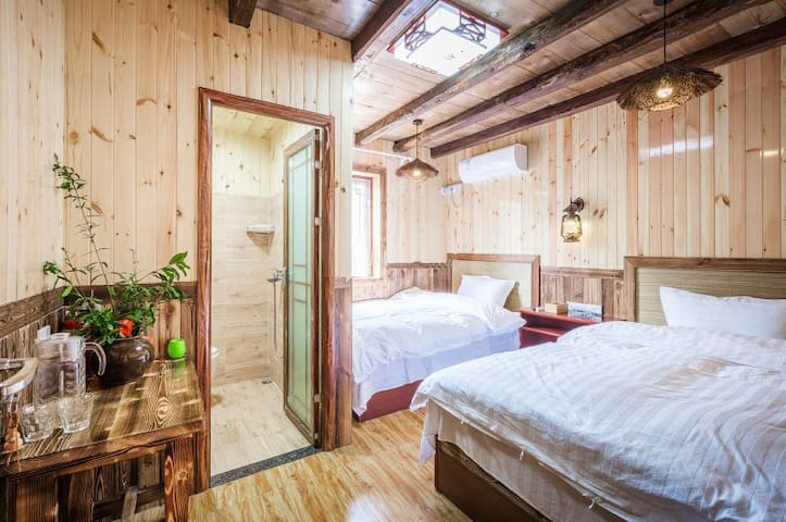 武当山天乐客栈舒适双床房 Wudangshan TianLe double room