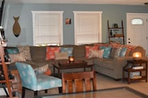 A large sectional to accommodate gatherings.