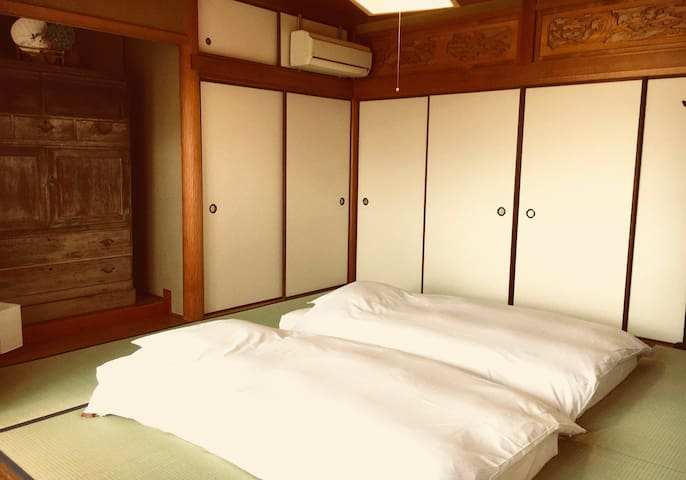 Private Terrace & Bathroom +  Futon bedding - OZU