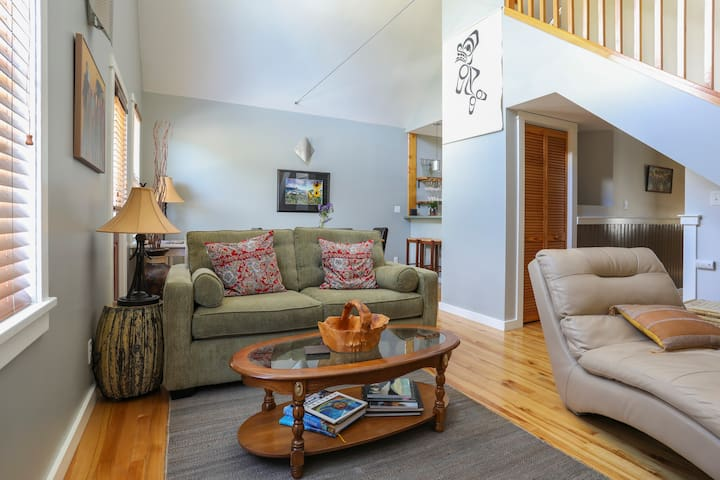 Open concept living and dinning area for family fun.