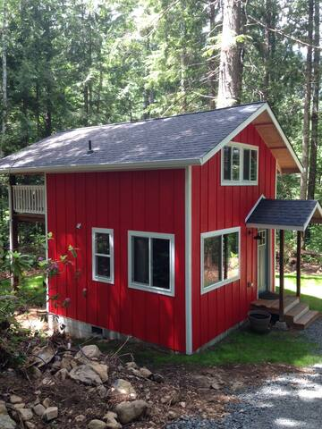 The Little Red House in the Woods