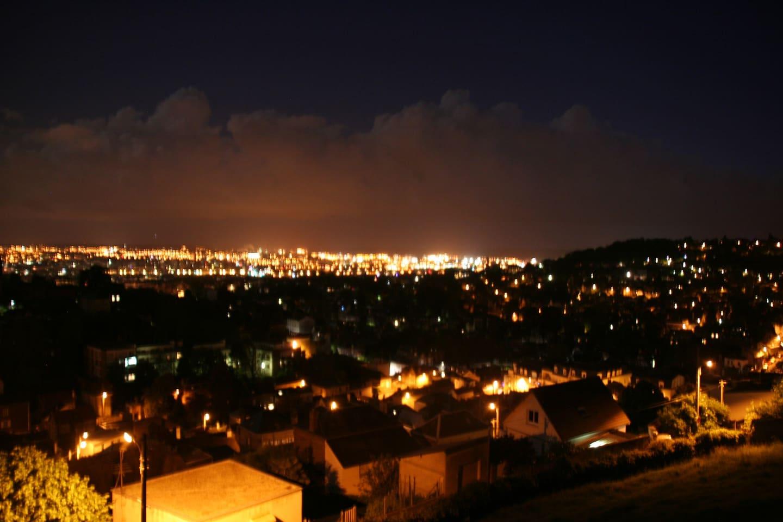 vue de la terrasse du logement