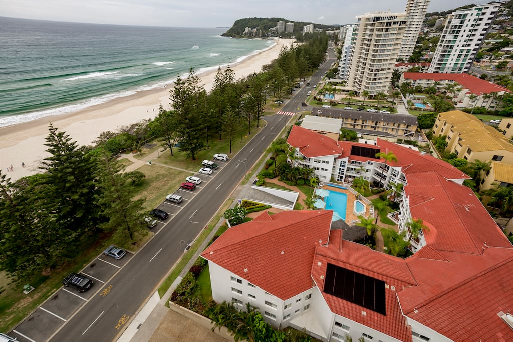 Walk across the road to one of Australias best beaches