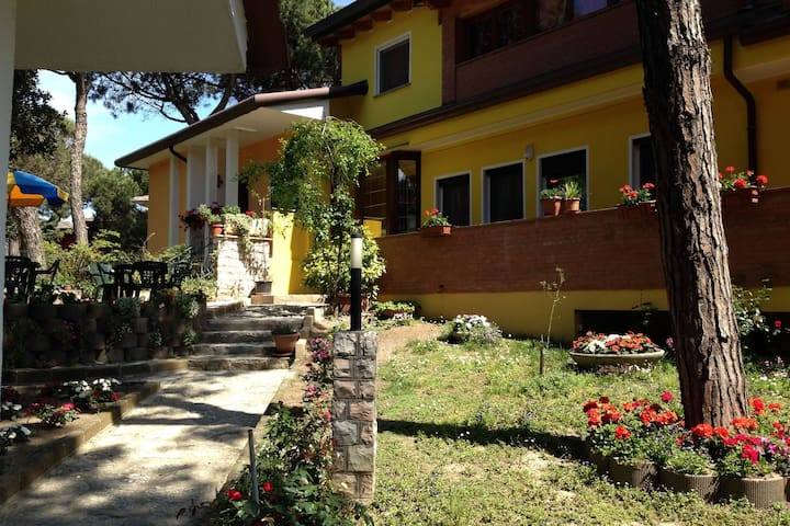 Semi-detached house, large garden, in Rosolina Mare, close to Venice