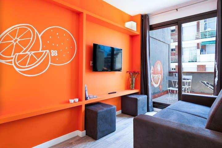 One bedroom with lovely terrace next Plaza España - Барселона - Квартира