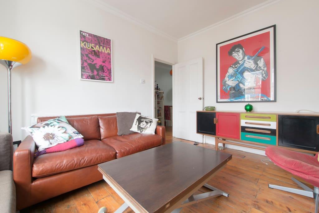 The lounge with beautiful Italian leather sofa