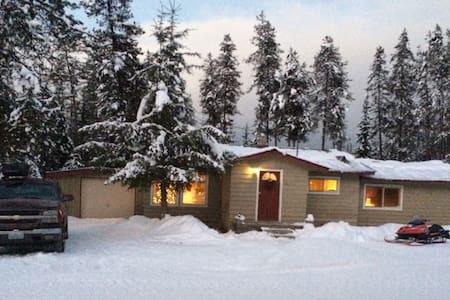 Cozy cabin 5 acres by Priest lake - Nordman - Casa