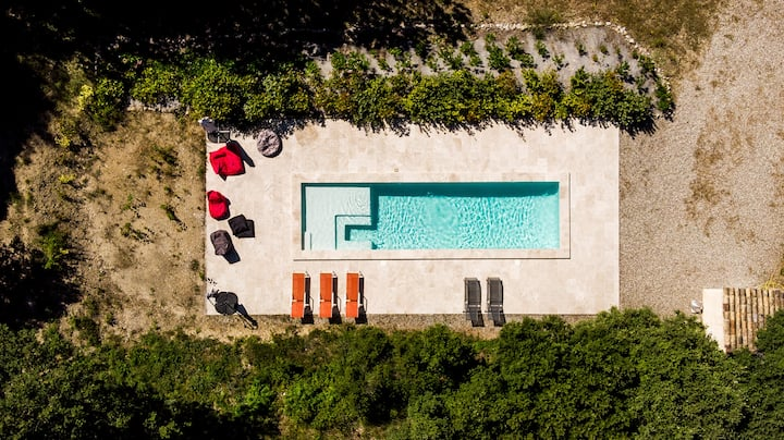 Chambre d'hôte provençale - Balcon privatif / vue