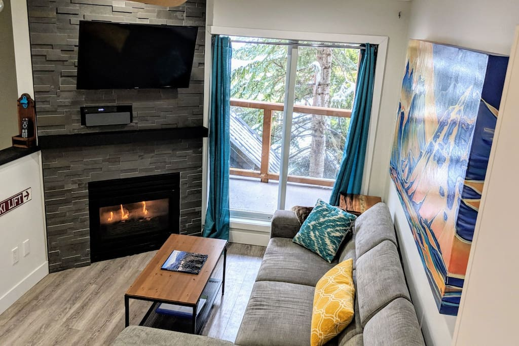 Fireplace and TV - Cable and Netflix
