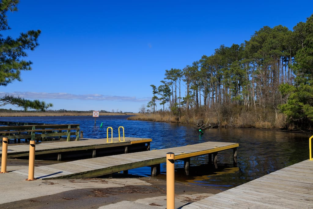 Super convenient and easily accessible Public boat ramp just a mile down the road!