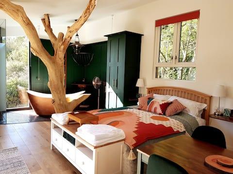 Cabaña soleada Ivy Cottage en Woodland Paddock