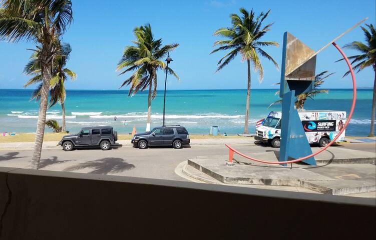 Beach front getaway.