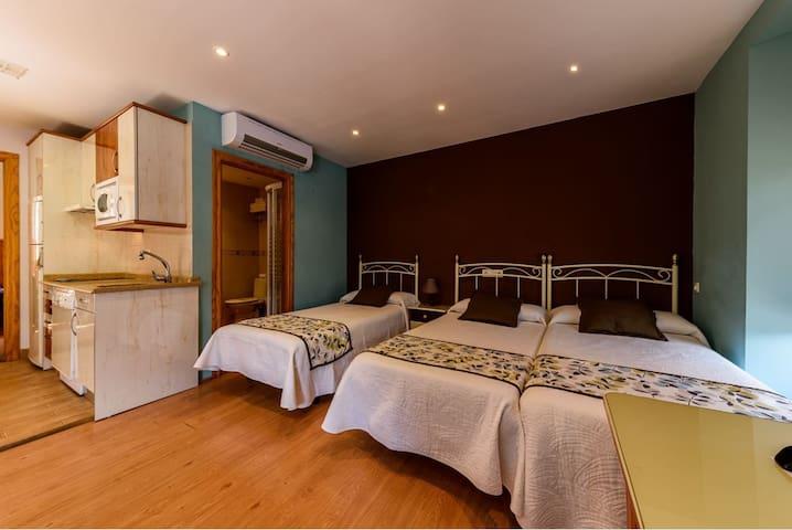 Habitación cuádruple con cocina y baño privado
