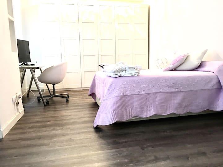 Habitación 25m2 Baño en Suite Paseo Castellana