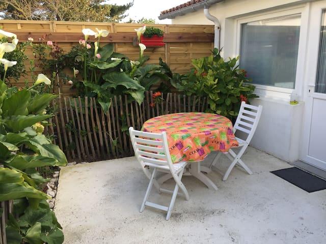 Maison dans jardin