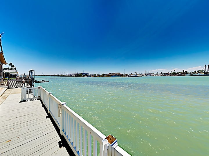 Home on Channel w/ Views of Water, Deck & 2 Pools