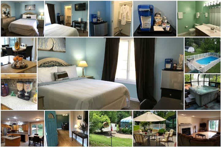 Blue Blossom Room (Queen) | Breakfast & Amenities - Elizabethtown - Ev