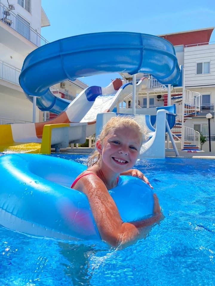 Antalya belek 1 nirvana club  pool view waterslide