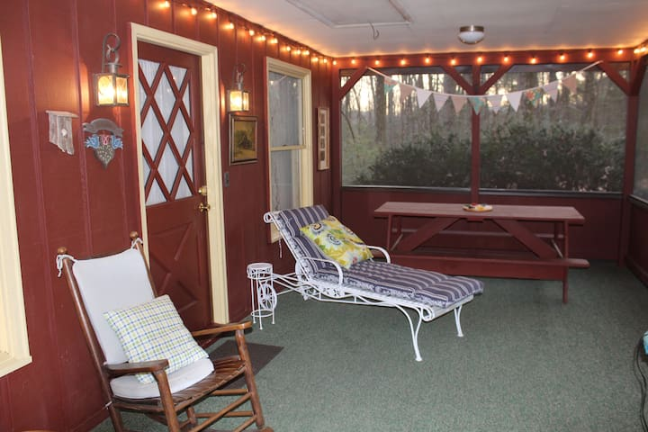 More porch pictures-- lots of comfortable seating