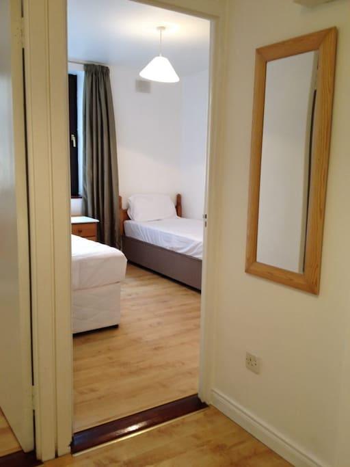 Bedroom 2 (2 bed) - Backs onto hallway & bathroom