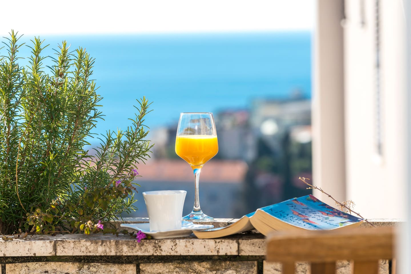 Enjoy your beautiful mornings and evenings on our terrace