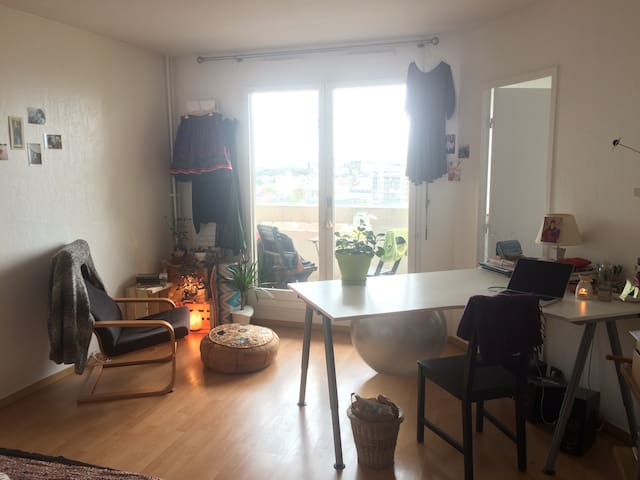 Spacious room with view in 2-bedroom apartment - Le Pré-Saint-Gervais - Byt