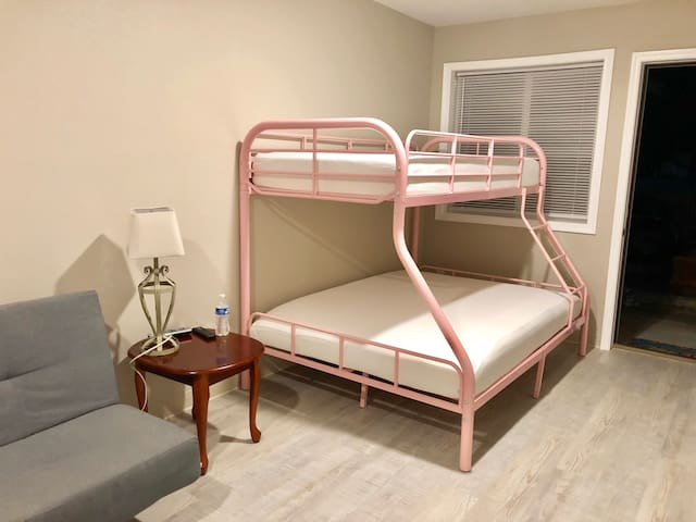 Suite 209 - Bunk Bed and Sofa - Sandy Beach Suites