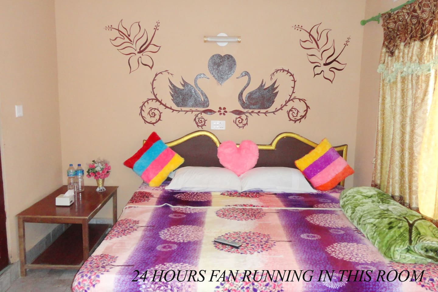 King suite room with air conditioner and balcony