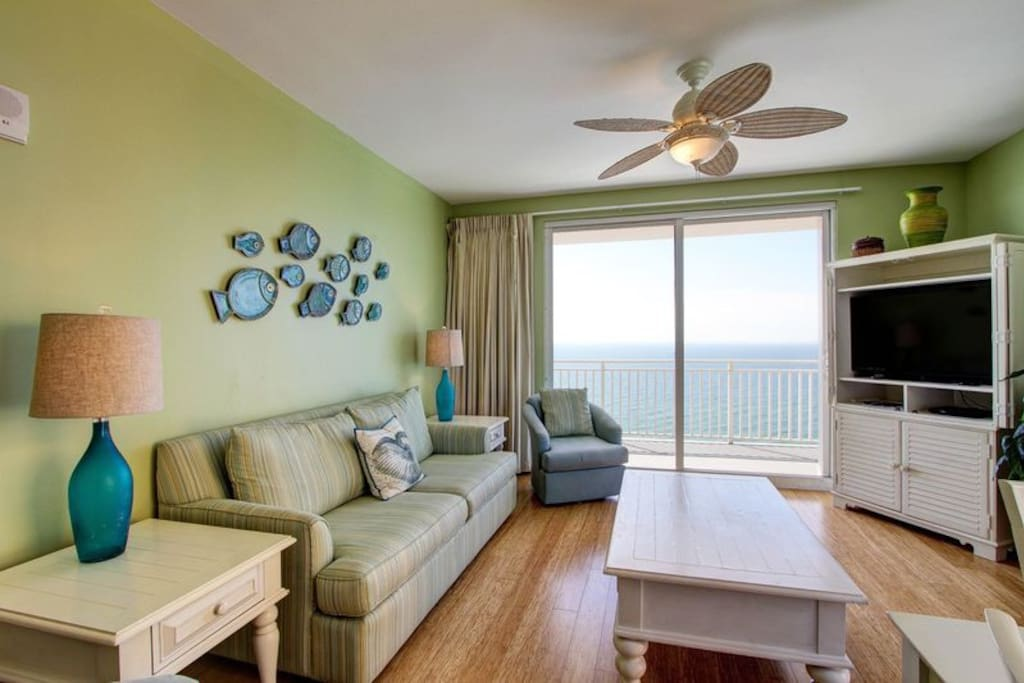Look at this view from your living room!  Brand new wood floors throughout!