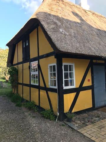 Idyllisk baghus i det gamle Troense