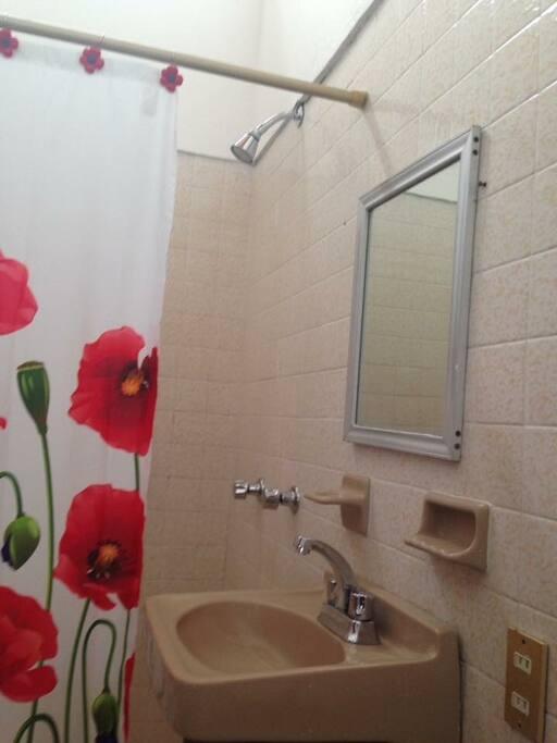 Baño con acabados de lujo y muy amplios con duchas helvex