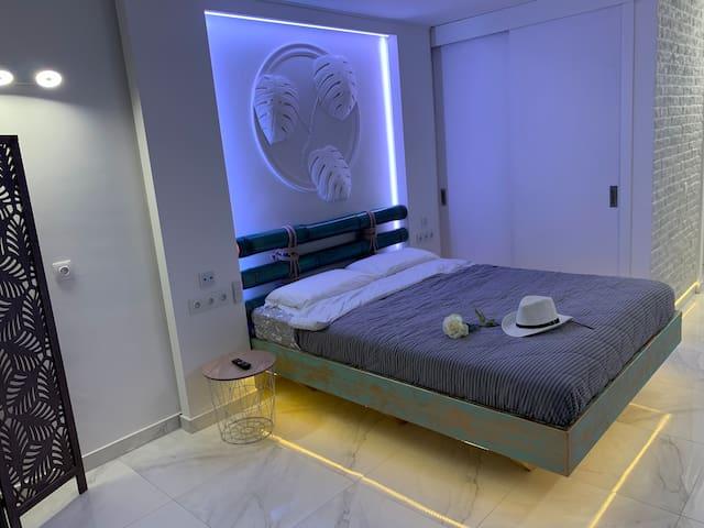 Interior design underground. Studio with author's design