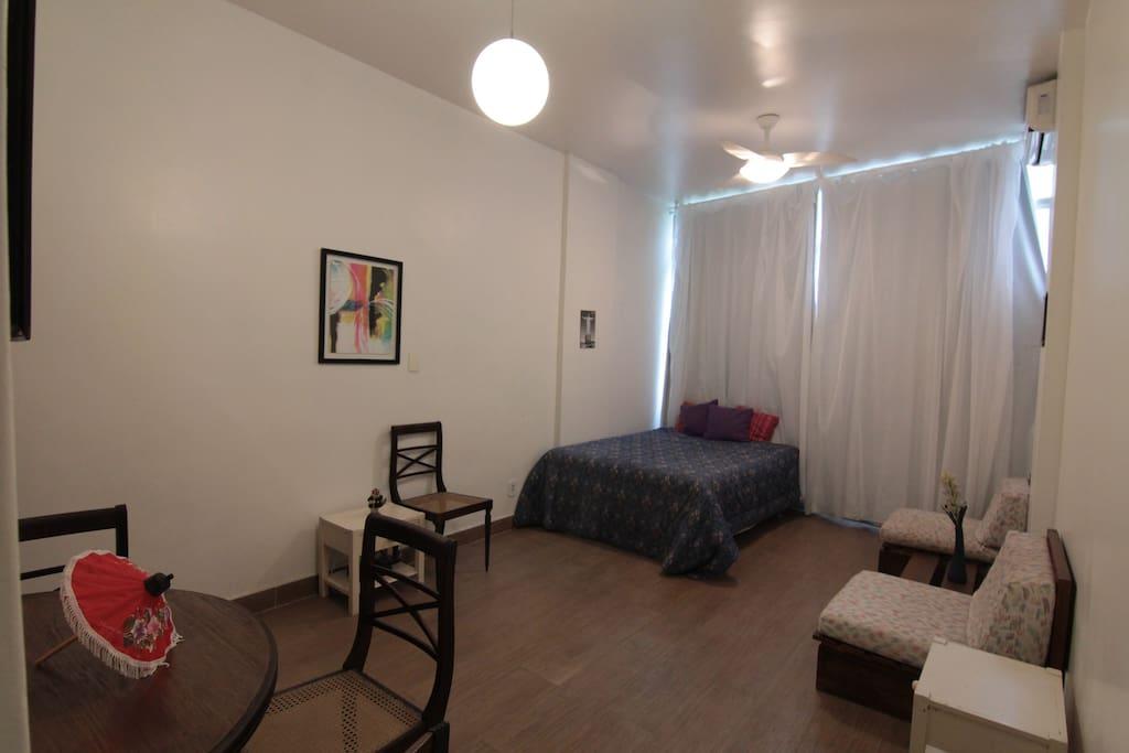 Vista da sala/quarto
