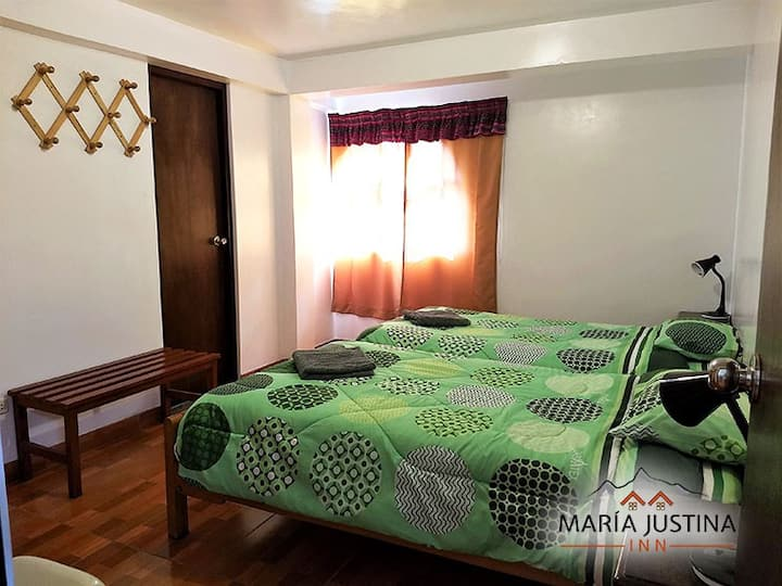 Maria Justina Inn 201 private room 2 beds ensuite