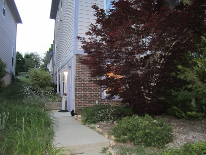 Private apartment in desirable downtown Carrboro