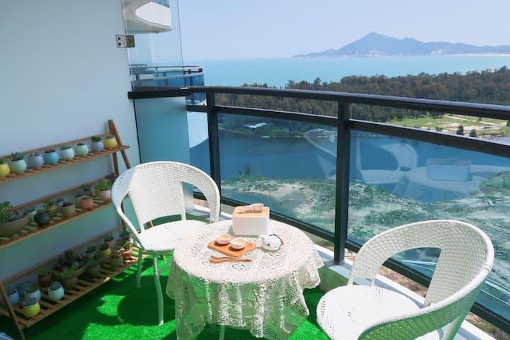 金銮湾浴场|远观苏峰山紧邻马銮湾|小黄鱼海景房