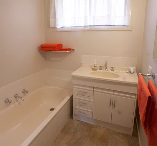 Compact little bathroom with separate shower