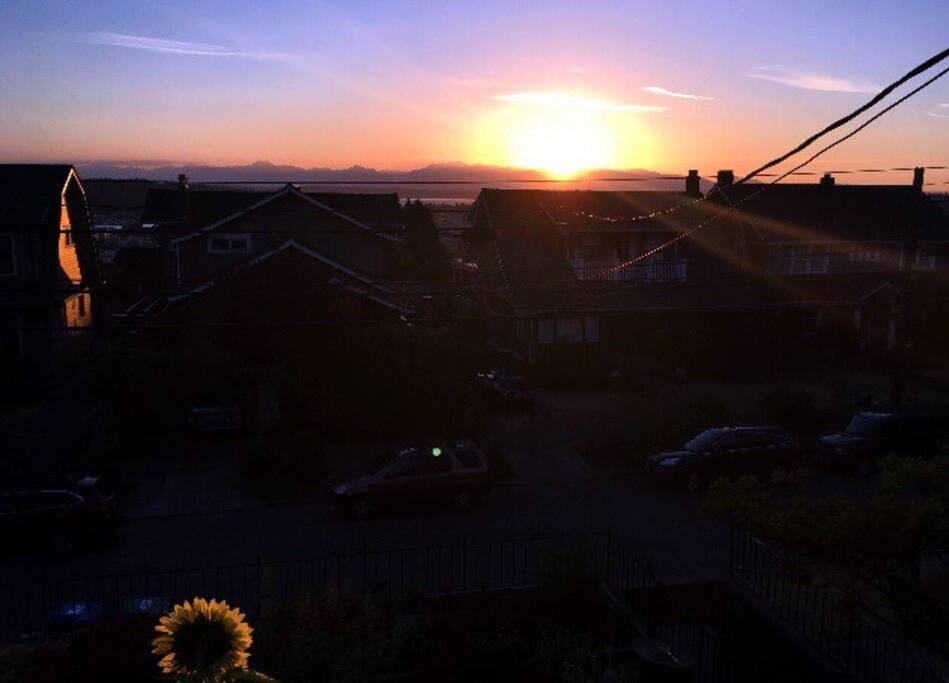 View, sunset