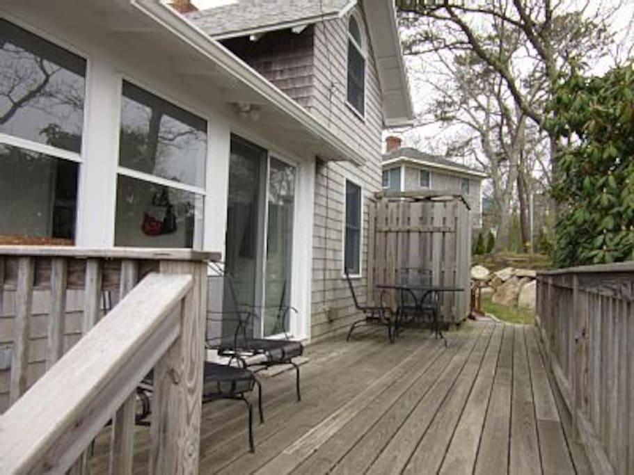 Front deck with room to sit