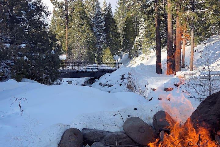 Winter magic at the ranch.   S'mores anyone?
