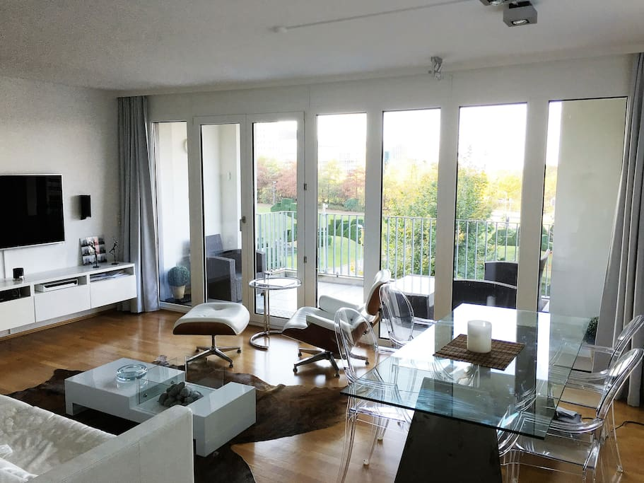 3 / Living Room with Balcony