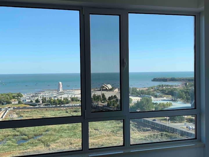葫芦岛海滩面朝大海非凡海景公寓