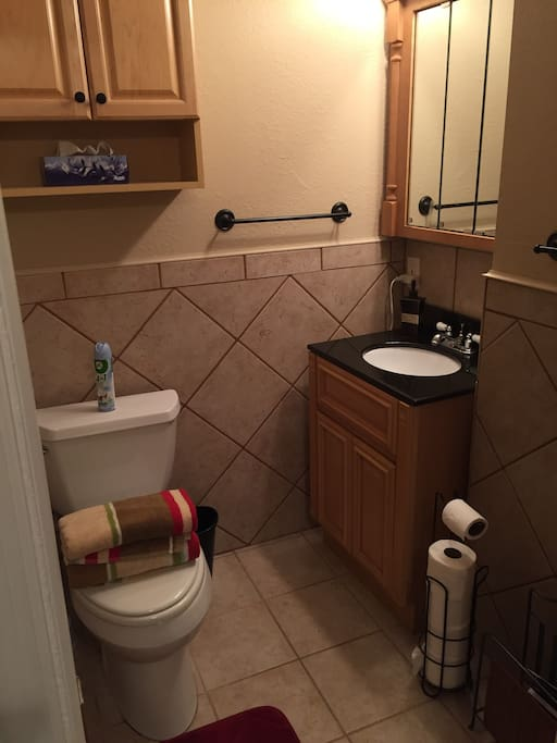 Private Full Bath with Shower