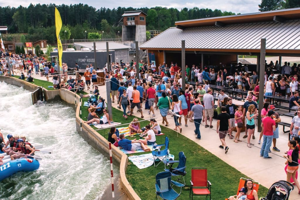 The Whitewater Center is known for its atmosphere, beer selection & concerts!