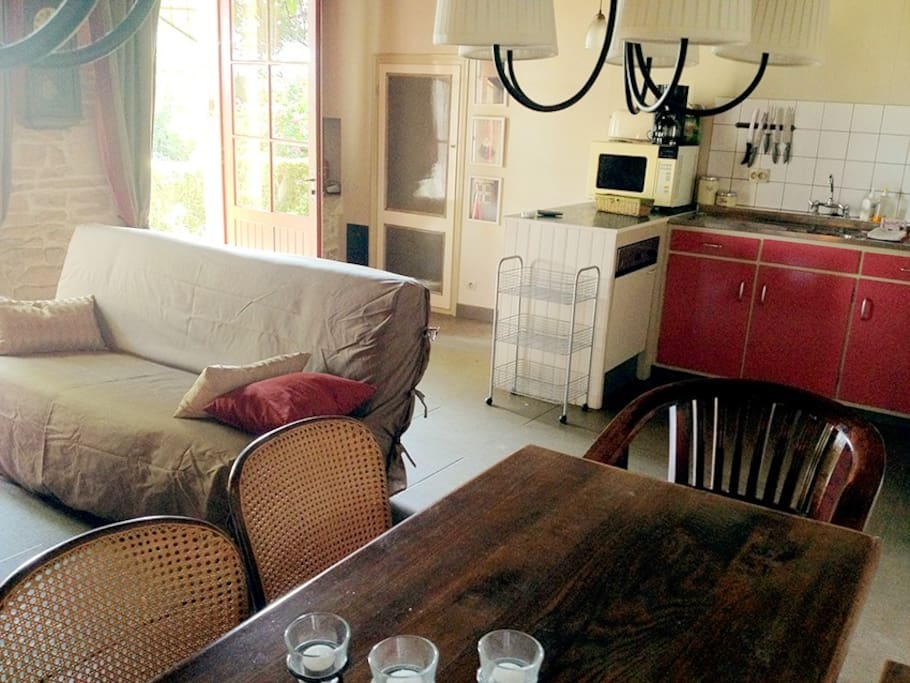 """The main reception room comprises a kitchen and has a great """"cosy"""" ambiance"""