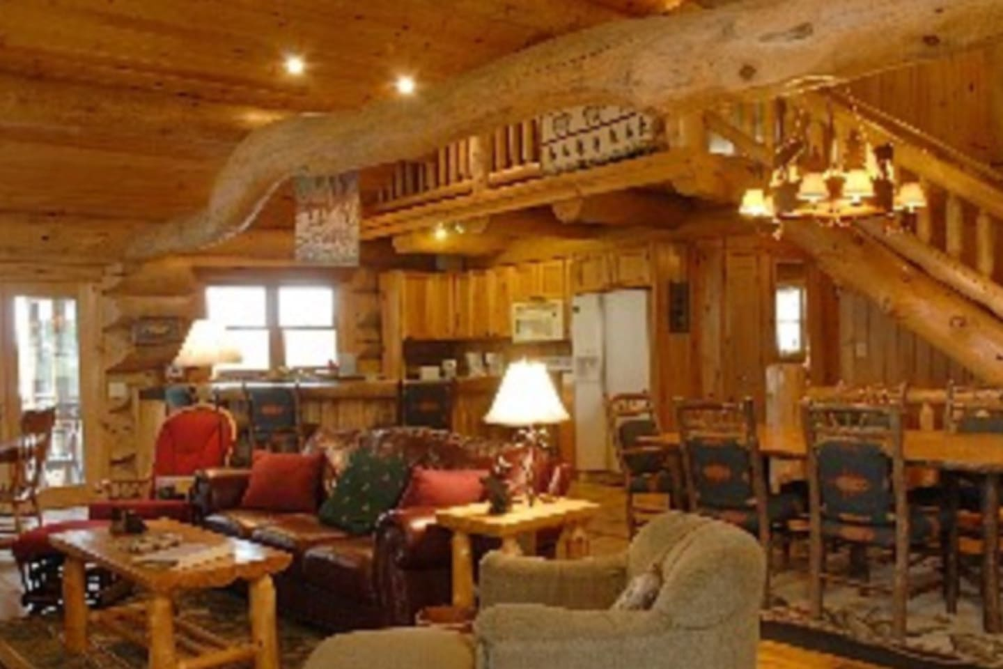Enjoy this beautiful handcrafted log home