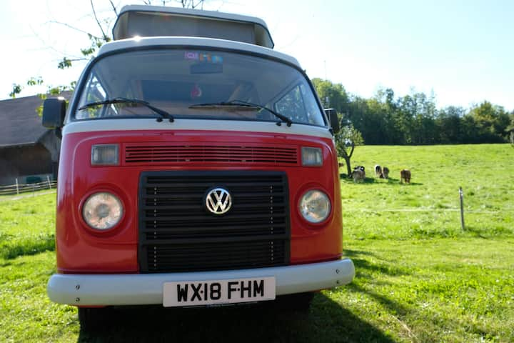 Ruby, Glamorous camping in a VW T2 Campervan