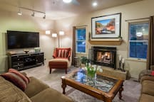 Enjoy a cozy fire with family or friends
