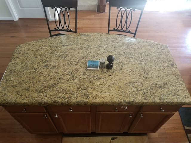 Kitchen Island with Granite